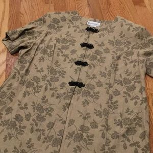 DRESS BARN~~Tunic Top with frog closures
